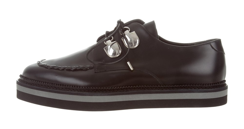 ALEXANDER MCQUEEN - FLATFORM LACE-UP OXFORDS($295.00)