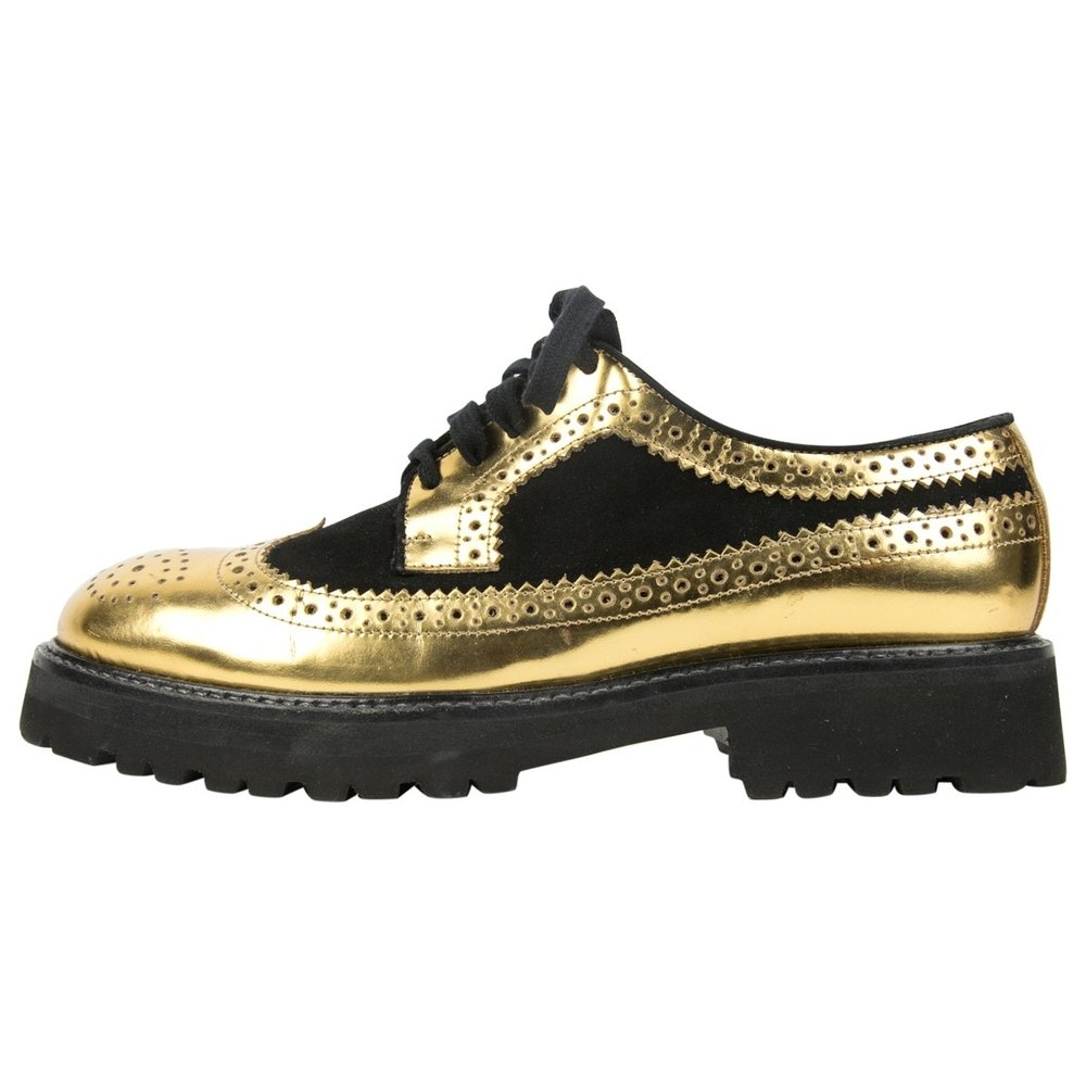 MARNI - PATENT LEATHER LACE-UPS ($195.00)