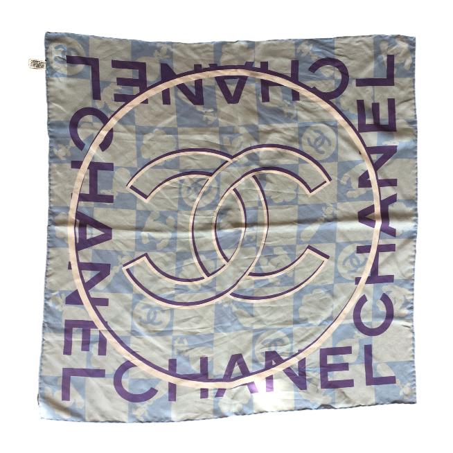 CHANEL - BLUE SILK SCARF ($185.00)