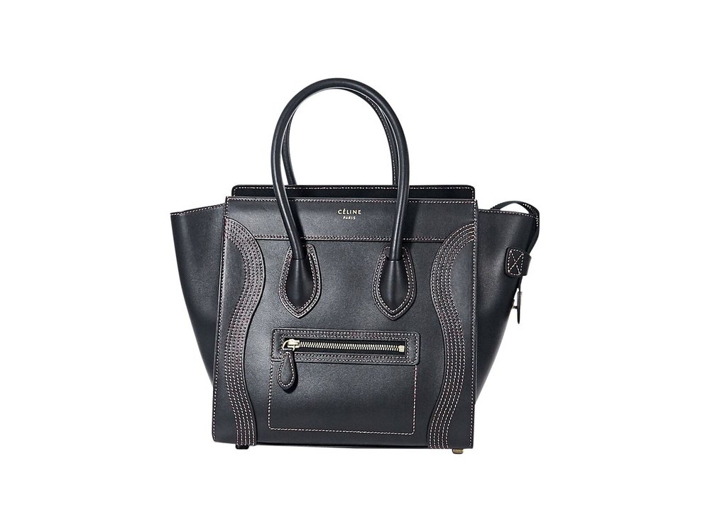 Celine  Black Smooth Calfskin Luggage Bag; $2,795.00