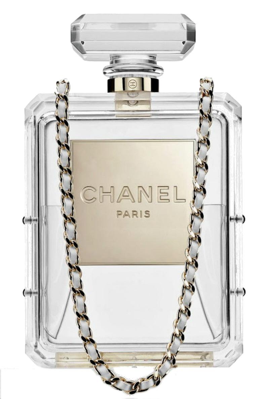 Plexi Glass Perfume Bottle Clutch Limited Edition Runway 2014 - $17,490