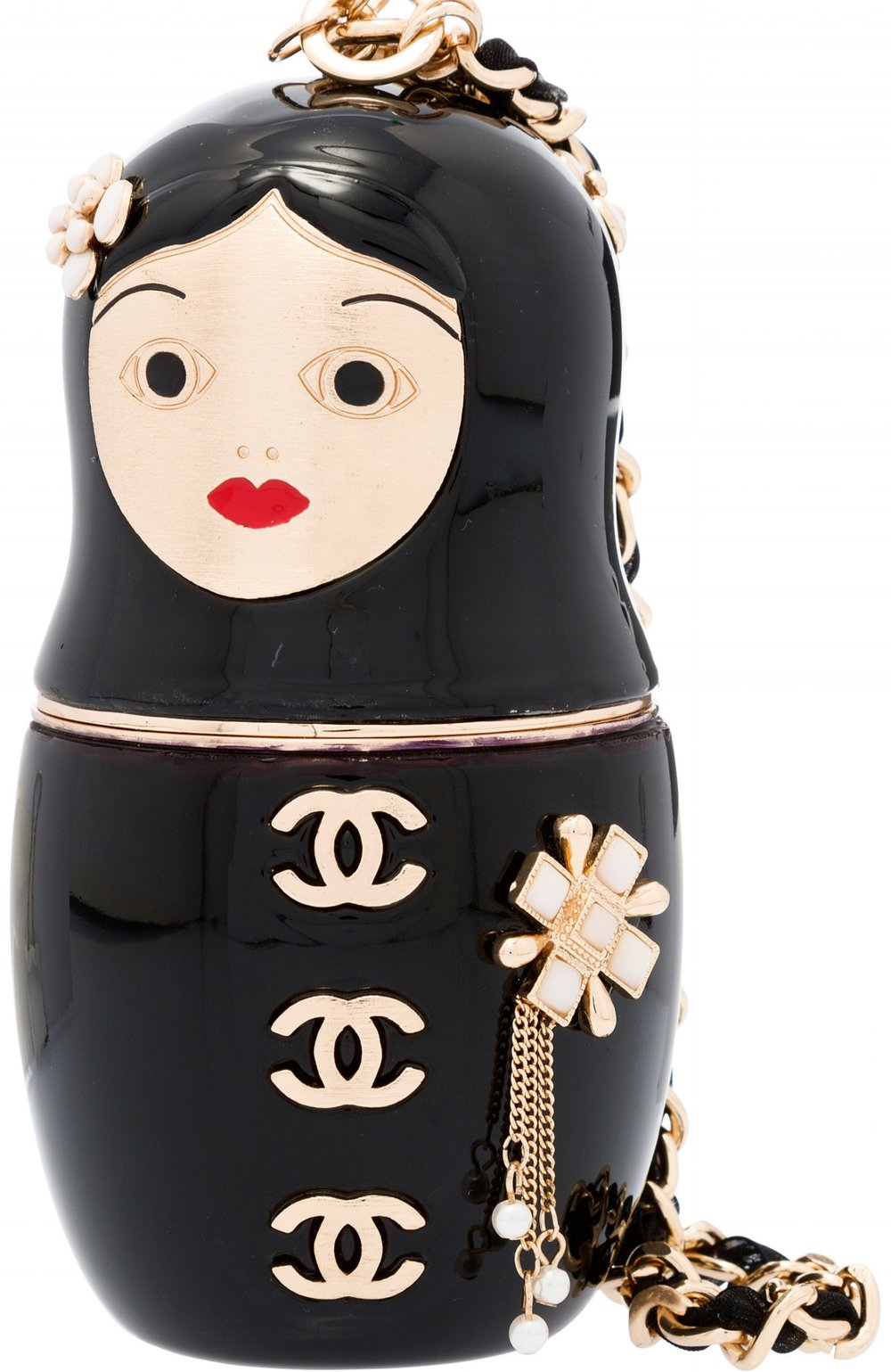 Black Enamel Matryoshka Doll Evening Bag - SOLD ON HERITAGE AUCTIONS