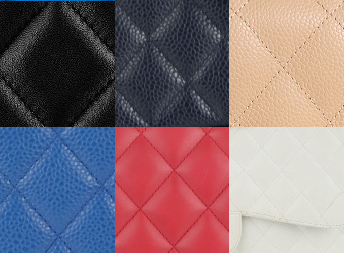 Photo: Vauntr ( From Left To Right: Black Lambskin, Black Caviar, Beige, Blue, Red, White