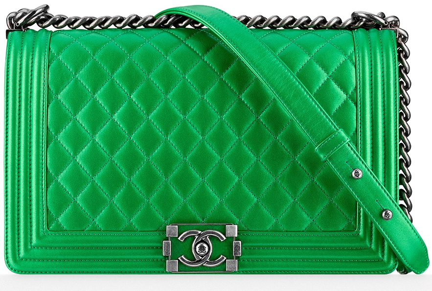Photo courtesy of purseblog - Chanel Boy Bag – New Medium11″ W x 7″ H x 3.5″ DPrices Start at $5,200 for Quilted Calfskin