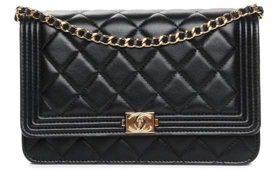 photo courtesy of fashionphile - Chanel Boy Bag WOC7.5