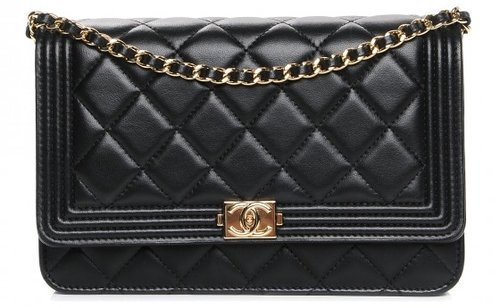 b02de6433c4a7b chanel-lambskin-quilted-boy-wallet-on-chain-woc-