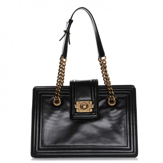 Photo courtesy of fashionphile - Chanel Boy Small Tote12.5