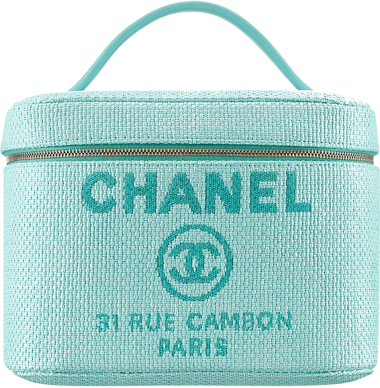 Chanel Deauville Vanity Pouches in Raffia and Calfskin