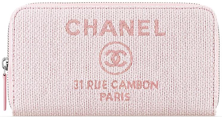 Chanel Deauville Zip Around Wallet