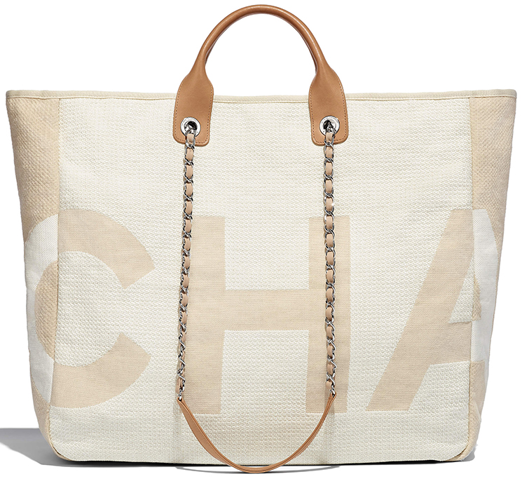 Chanel Deauville Fabric Maxi Large Shopping Bag