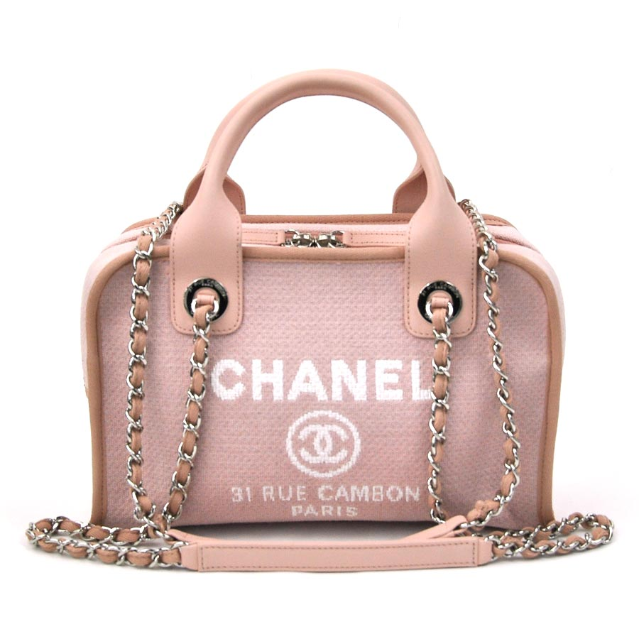 Chanel Deauville Canvas Bowling Bag