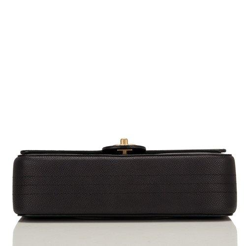 d76cb7354bfc Chanel Black Caviar Medium Classic Double Flap Bag — The Posh Net