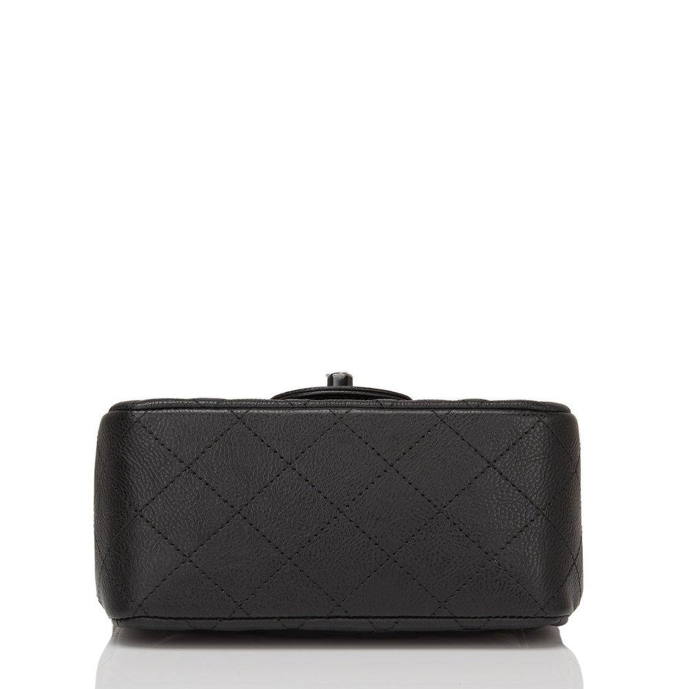63ea0f70f8d0 Chanel SO Black Crumpled Calfskin Square Mini Classic Flap Bag — The Posh  Net