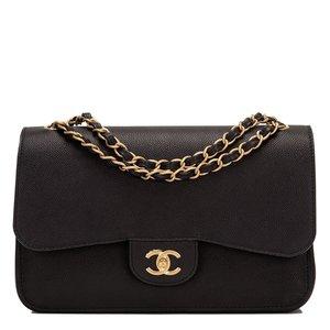 ee7a4d29f703 Chanel Black Caviar Jumbo Classic Double Flap Bag
