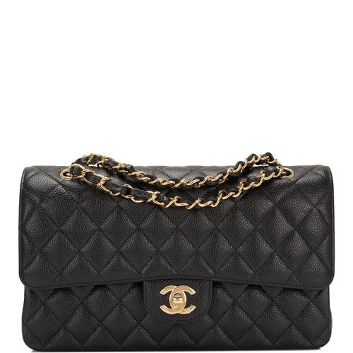 244ff19ea081 Chanel Black Quilted Caviar Medium Classic Double Flap Bag — The ...