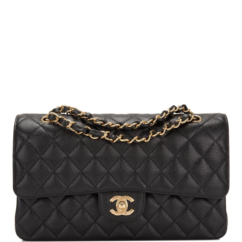 096d15a6d04 Chanel Black Quilted Caviar Medium Classic Double Flap Bag — The Posh Net