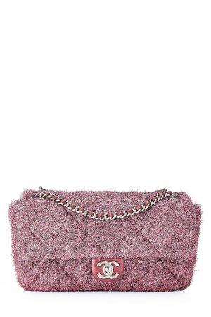 8681838679a264 Chanel Pink Knit Pluto Glitter Classic Flap Medium ...