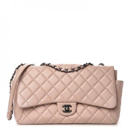 267d3d173f5317 Chanel Lambskin Large Around Pockets Flap Light Pink — The Posh Net