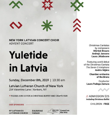 Latvian Lutheran Church Christmas Fair 2020 YULETIDE IN LATVIA / ZIEMASSVETKIS LAIKA VEJOS — BACC NEW YORK