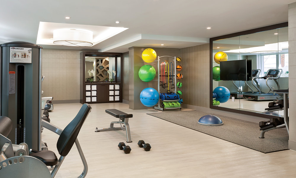 PRIVATE FITNESS CENTER WITH TOP-OF-THE-LINE EQUIPMENT