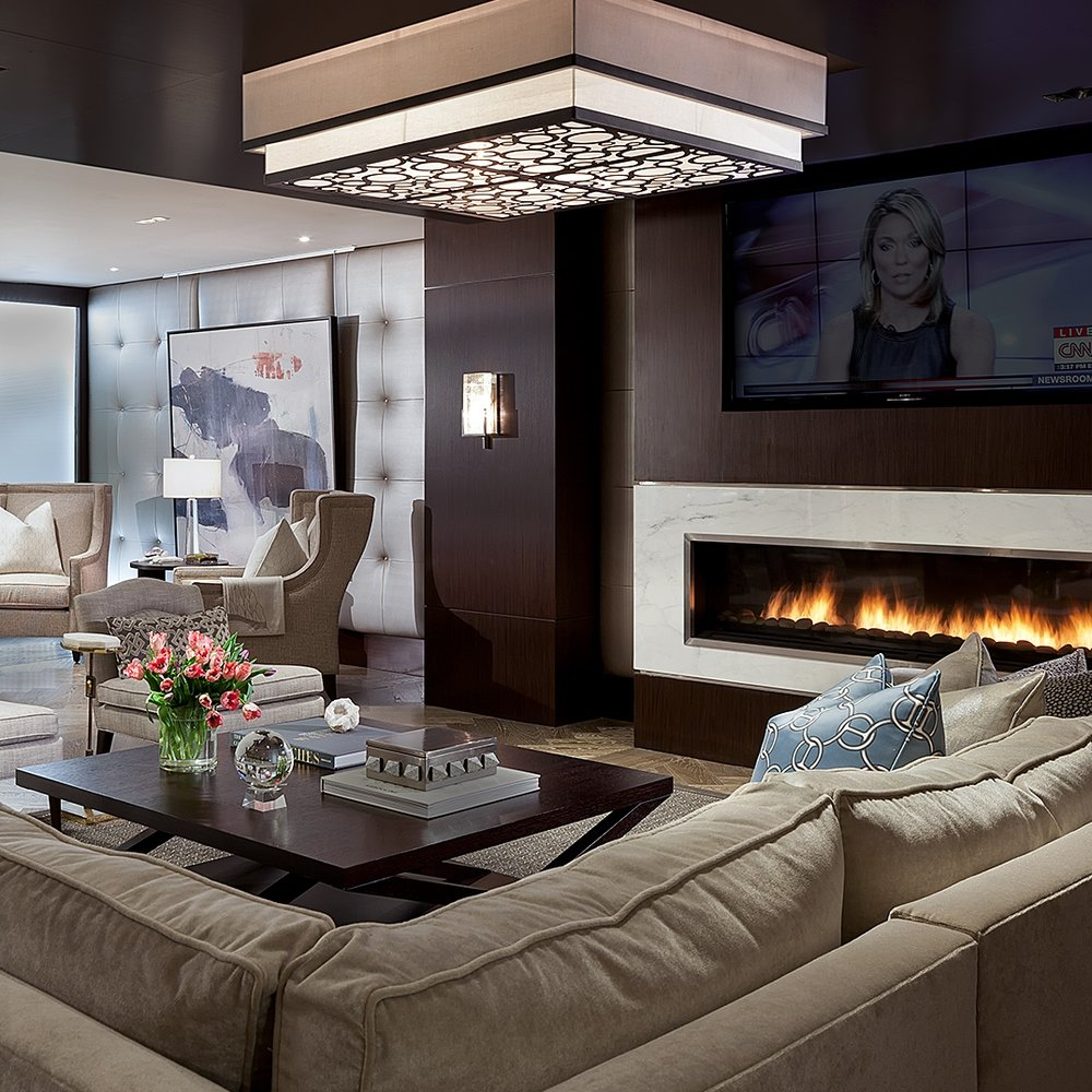 Amenities the lauren fireplace lounge gathering space teraionfo
