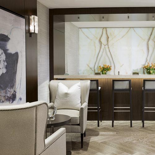Bethesda Condo_Wine Lounge Seating