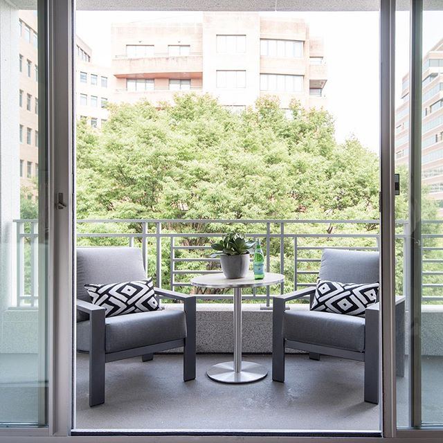 The rains of last night gave way to a freshness in the air - come out and enjoy it #summer #balcony #balconydecor #interiordecor #interiordesign #realestate #realestatephotos #realestateforsale #condominium #condo #condoforsale #condominiums #bethesda #washingtondc