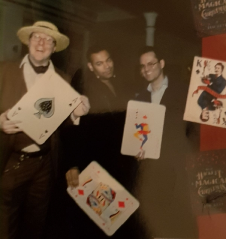 Three good friends, two great magicians, one lousy photo!