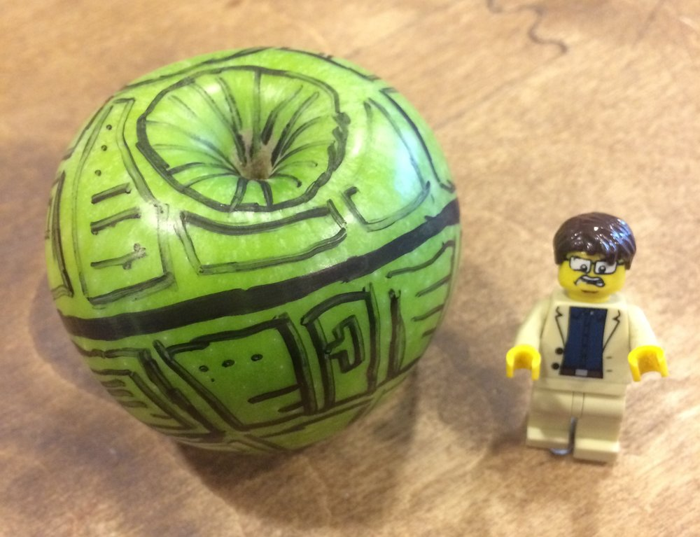 DEATH STAR APPLE! (And Mini-Paul)