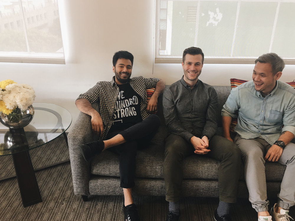 Orchard Founders: Hamza Javed, Alex Sebastian, and Bruno Wong.