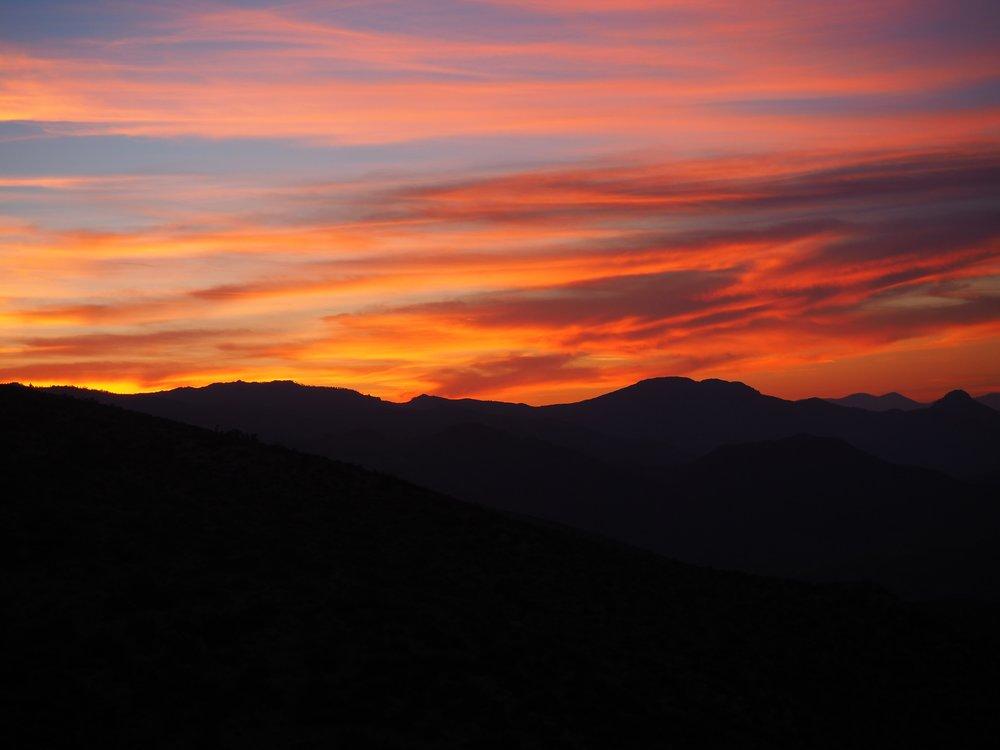 Sunset in the desert. Somewhere around mile 600?