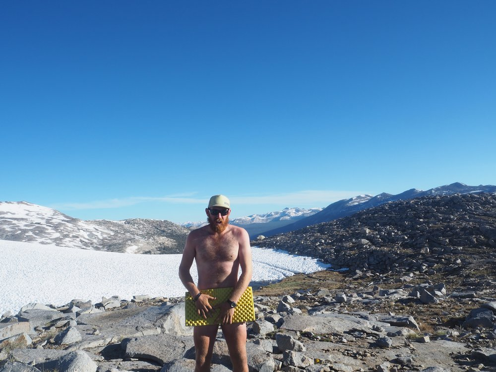 YIKES! Donohue Pass on national hike naked day.
