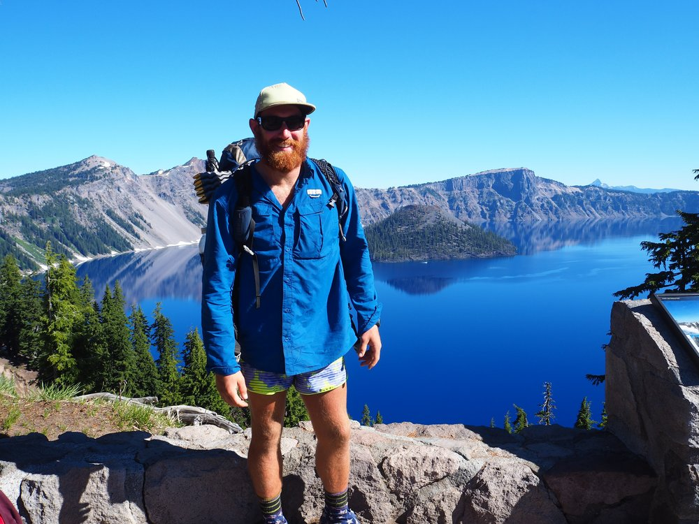 Crater Lake and new friends.