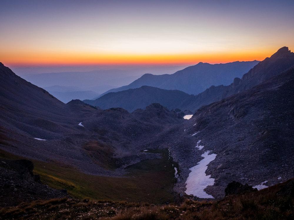Sunrise on the pass.