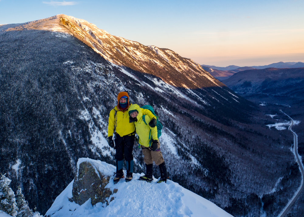 On top of Mt. Willard, in Crawford Notch State Park.