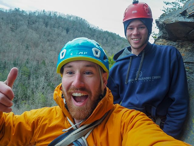 Managed to dodge the rain drops and not blow away this weekend, and got in 20ish pitches of (mostly) dry rock! #justgonnasendit #paddyopictures #rrg #redrivergorge