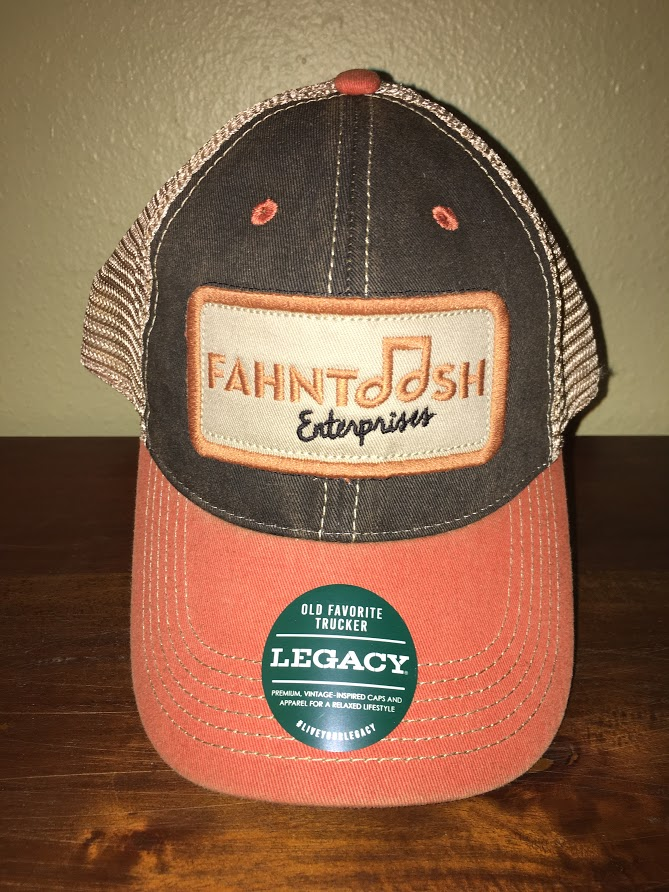 Adjustable Legacy Trucker Hat - Orange Black — Fahntoosh Enterprises 40b8d345282