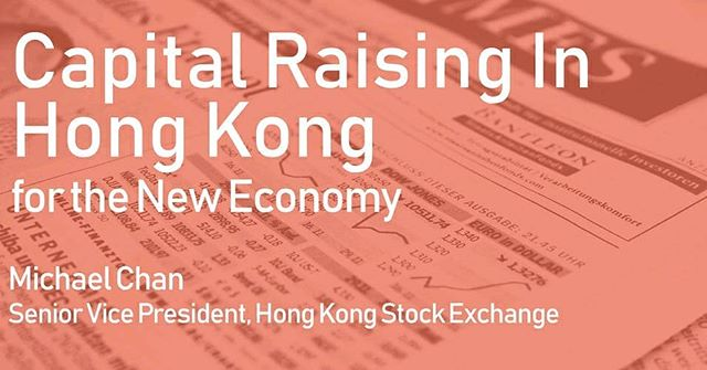 Michael Chan, the Senior Vice President of the Stock Exchange of Hong Kong, is visiting ITH this Wednesday to discuss listing processes, requirements, advantages & newly-released rules for pre-revenue companies. Click here if you'd like to join us; https://buff.ly/2LlsFvt