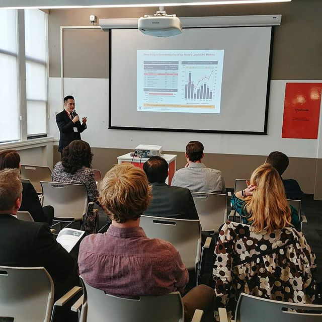 """Thank you @investhkny and #SEHK for today's event! Michael Chan gave a great talk on """"Capital Raising in Hong Kong for the New Economy"""""""