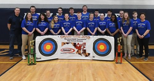 The Holly Grove Archery team claimed 5 of 6 titles at the Maryland NASP State Championship on Saturday, March 16, 2019  (Photo: Staff Photo by Megan Raymond)