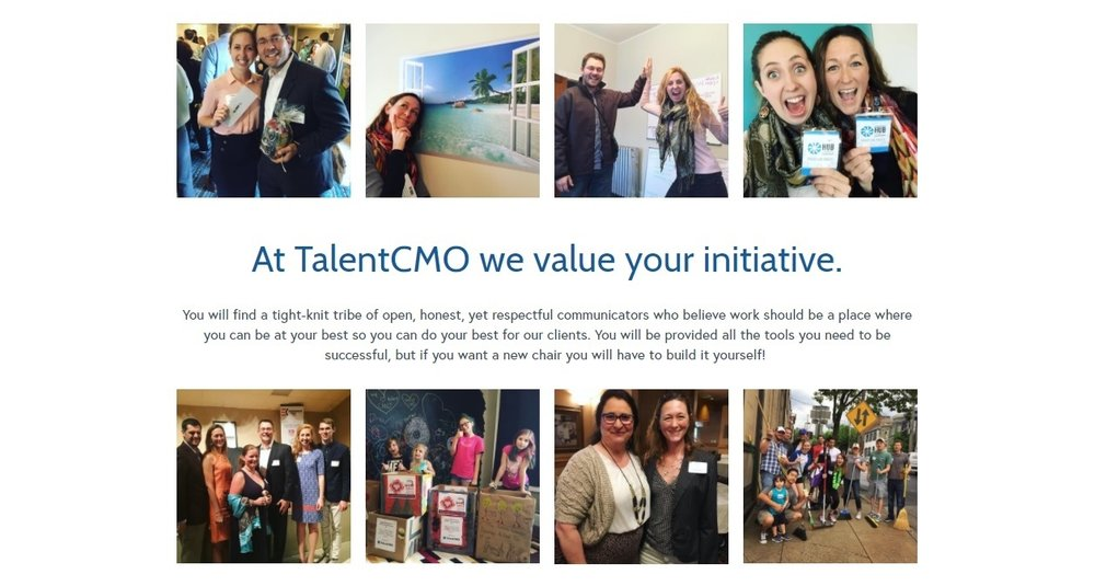 Sample from TalentCMO website: be authentic and speak true to who you are