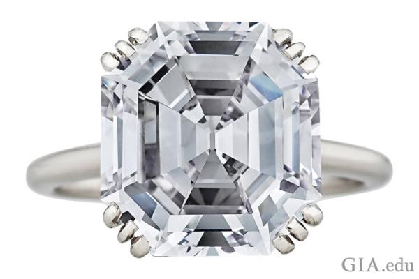 8.06 carat vintage Cartier ring with Asscher cut diamond.Courtesy: 1stdibs.com