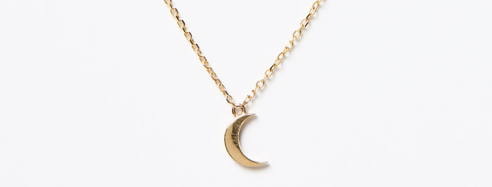 Moon and Stars Necklace, Jennie Kwon. 14K gold with diamonds.