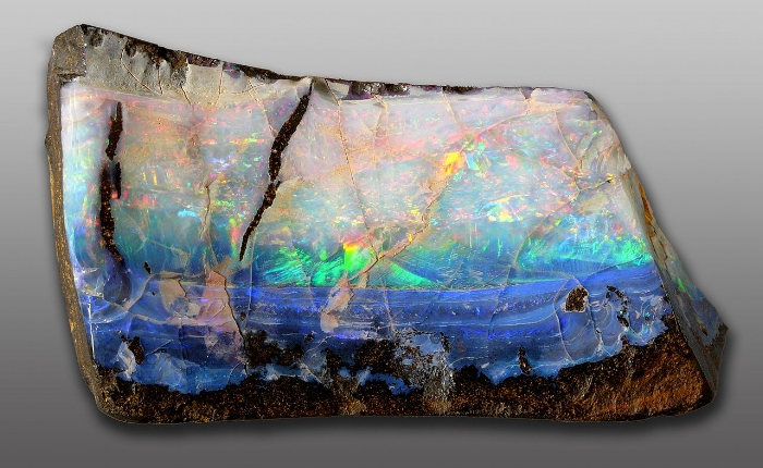 Raw precious opal.  Can you imagine stumbling onto this on a hike?
