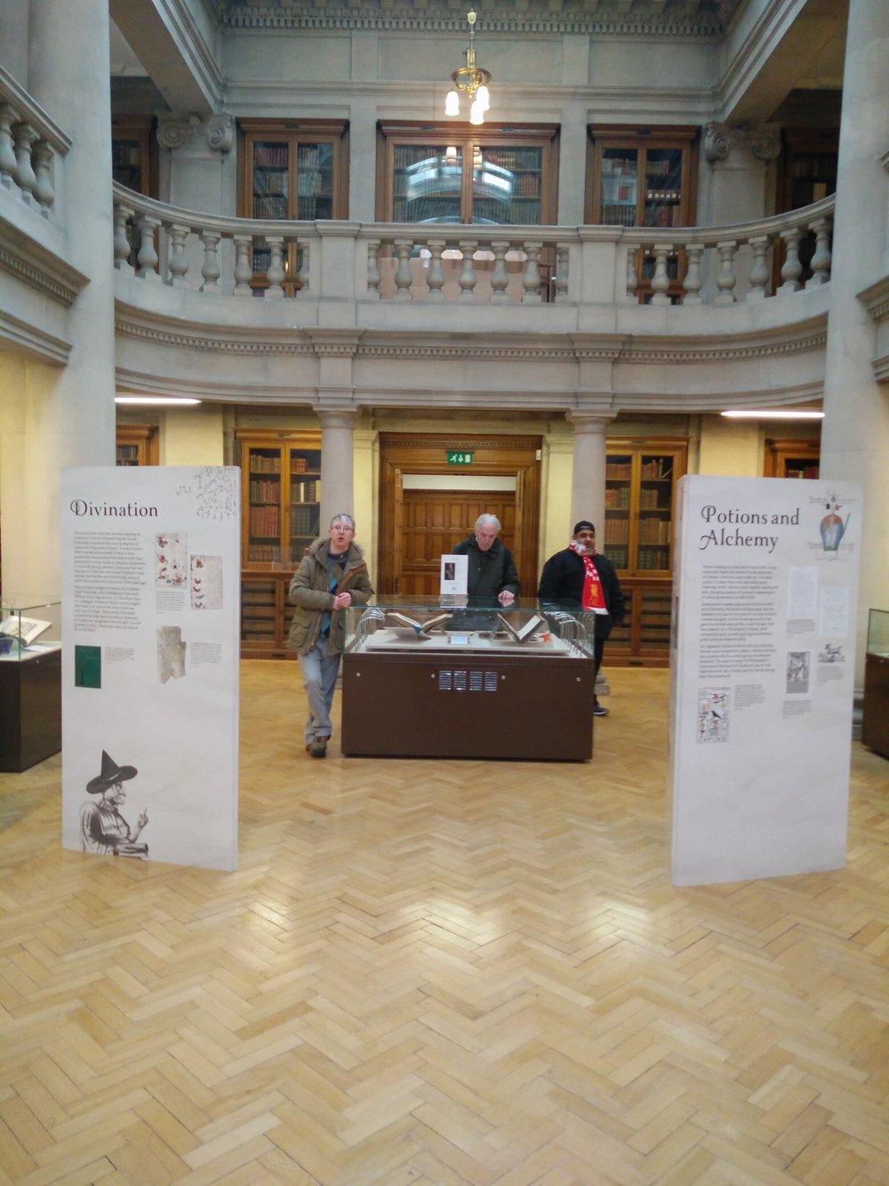 Visiting an exhibition in the Hornby library, Liverpool City Centre