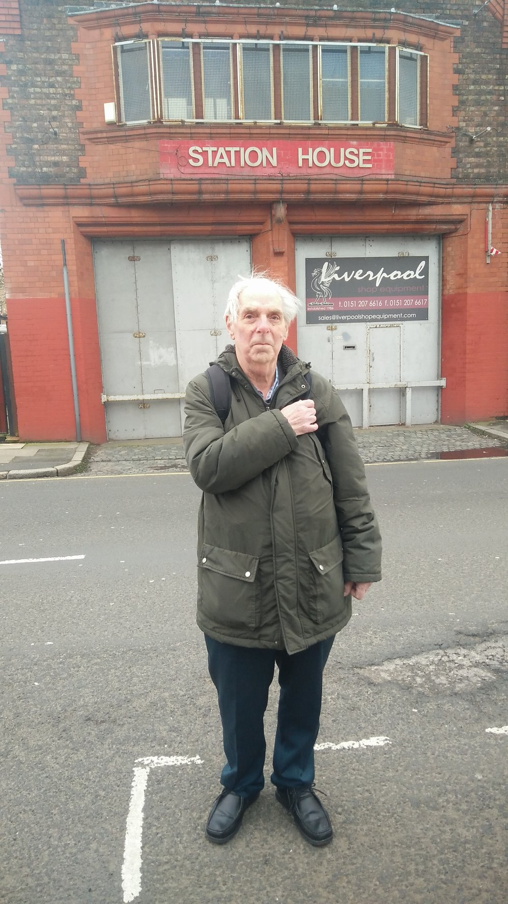 Visiting the streets where he grew up in Kirkdale