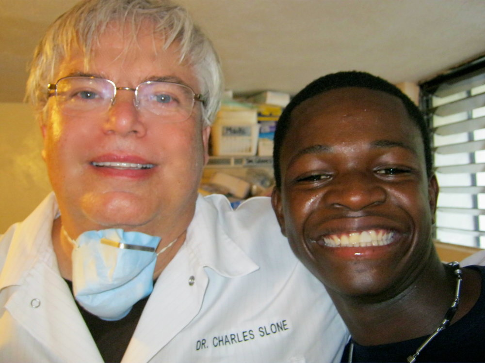 AFTER: Anderson gets a new smile.