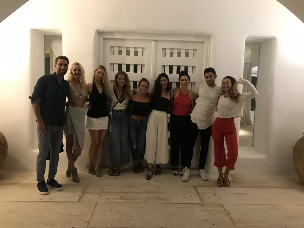 We went dancing one night! When in Mykonos...