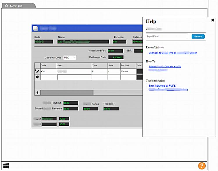 Modal-based contextual help