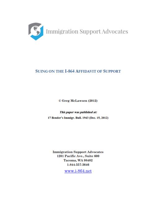 Suing on the form i 864 affidavit of support immigration support suing on the form i 864 affidavit of support altavistaventures Gallery